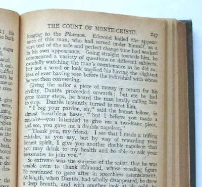 Old edition of The Count of Monte Cristo for sale