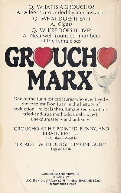 Groucho Marx from the Marx Brothers