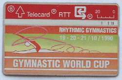 Gymnastic World Cup Telecard for sale